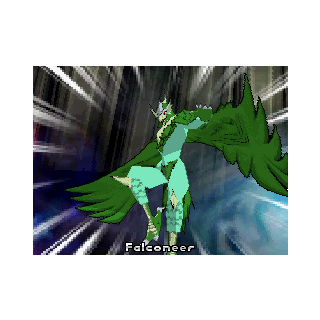 Ventus Falconeer in the DS version of the Bakugan Battle Brawlers video game