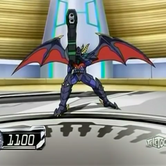 Linehalt with Boomix in Bakugan form with it's power level