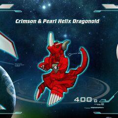 Crimson & Pearl Helix Dragonoid 