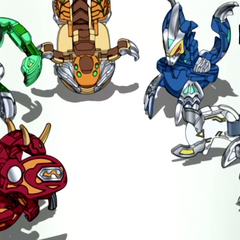 Roxtor with the other Battle Brawlers' Bakugan