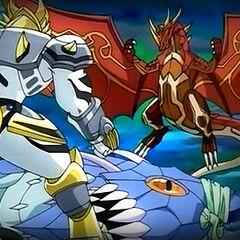 Tayghen vs Blade Tigrerra and Ultimate Dragonoid