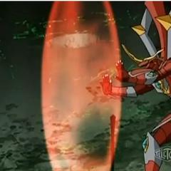 Titanium Dragonoid using ability <b>Generation Shield</b>