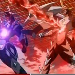 Mutant Helios and Mercury Dragonoid using <b>Ragnarok Buster </b>