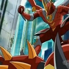Titanium Dragonoid fighting Bolcanon
