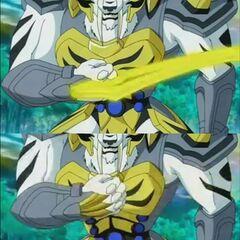 Tigrerra pulls her blades back after she defeats Lars Lion.