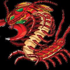 Pyrus Centipod in Bakugan form