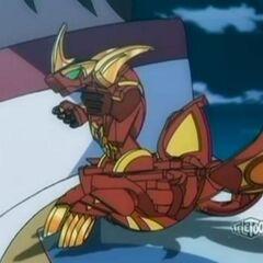 Lumino Dragonoid, as seen in the Anime