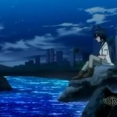 Shun sits and ponders over recent events.