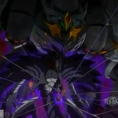 Razen Titan behind Mag Mel and Razenoid