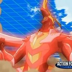 Titanium Dragonoid showing his Power