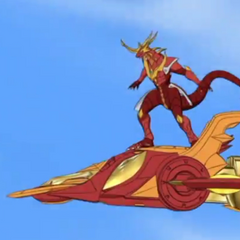 Drago on Jakaleer (Notice his wings are missing)