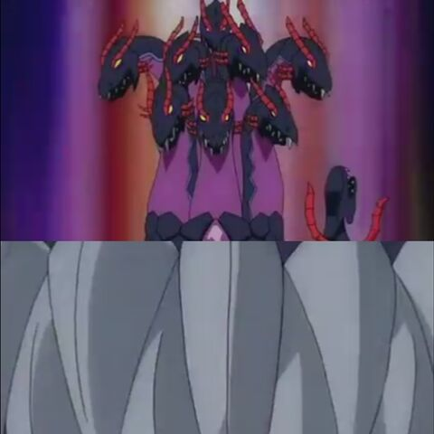 After Alice activates Demon Wizard, there is a scene that shows Exedra opens his mouth.