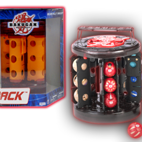 Closed packaged rack with orange clips (left) and open rack with black clips (right)