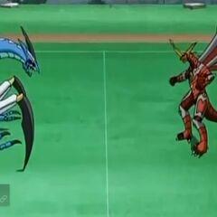 Mutant Krakenoid vs Titanium Dragonoid
