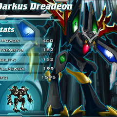 Darkus Dreadeon on Bakugan Dimensions