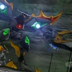 Dreadeon charging his lasers