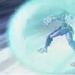 Aquos Akwimos using ability <b>Heal Blue</b>