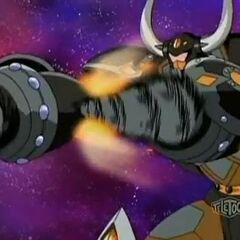 Rex Vulcan using abilities <b>Hammer Knuckle</b> and <b>Drill Booster</b>