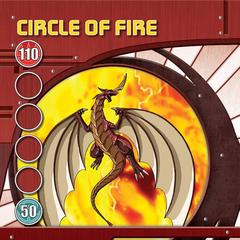 Red Ability Card design for Bakugan Battle Brawlers
