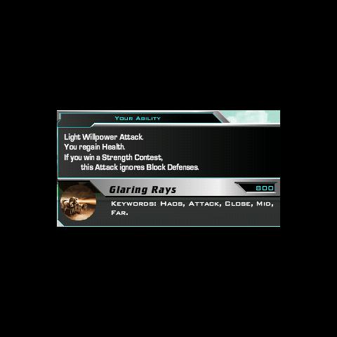 Glaring Rays' description.