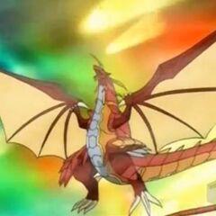 Delta Dragonoid in Bakugan Form