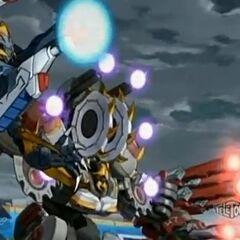 Venexus, Smasheon, and Deezall charging their attack