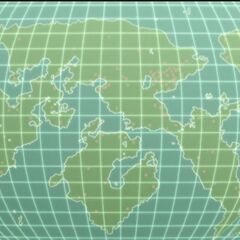 Virtual map of Earth, showing access points to Bakugan Interspace