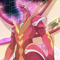 Drago after the evolution in Lumino Dragonoid.