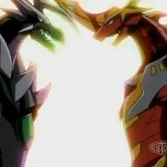 Infinity Helios and Titanium Dragonoid