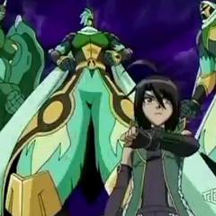 Shun and all of his Bakugan in New Vestroia