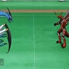 Titanium Dragonoid vs Mutant Krakenoid