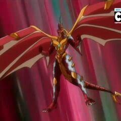 Blitz Dragonoid in Bakugan Form