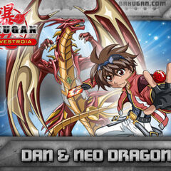 Dan and Drago on Bakugan.com (Note Drago's missing horn)