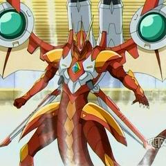 Helix Dragonoid with JetKor in Bakugan form