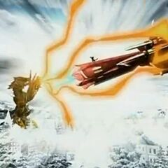 The Vestal Destroyer ramming <a href=