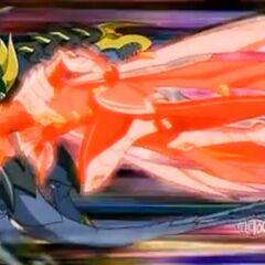Drago hitting Iron Dragonoid
