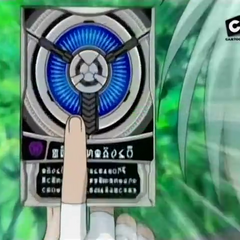 Ace holding a Darkus Fusion Ability