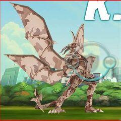 Lumino Dragonoid cheering that he won.