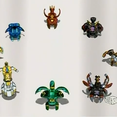 All Resistance Bakugan with Helios MK2 at Bottom Right