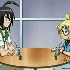 Marucho and Shun at the cafe in Bakugan Interspace