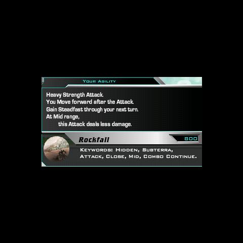 Rockfall's description.