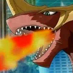 Titanium Dragonoid using ability <b>Dragon Strength</b>