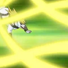Lumagrowl using ability <b>Spiral Blade</b>
