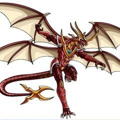Lumino Dragonoid's Real Mode, as seen in the Anime