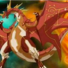 Infinity Dragonoid in Bakugan Form