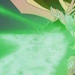 Mercury Dragonoid using <b>Slash Rise Thunder</b>