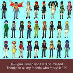 A tribute to my friends on dimensions (I'm really sorry I'm not able to include all of you)