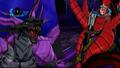 Darkus Omega Leonidas vs. Battle Axe Vladitor
