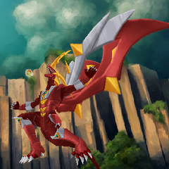 Titanium Dragonoid attacking.