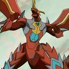 Mercury Dragonoid just after mutating with <a href=